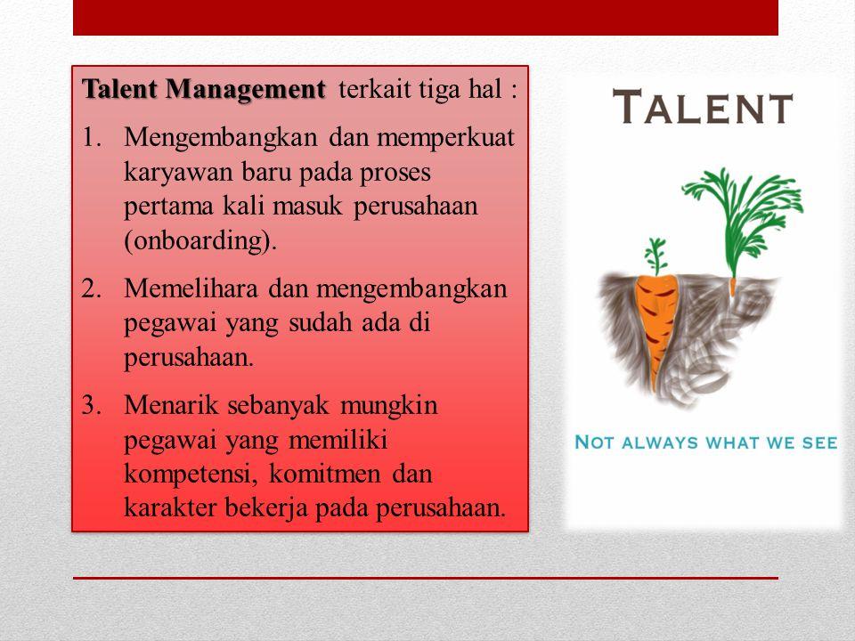 Talent Management terkait tiga hal :