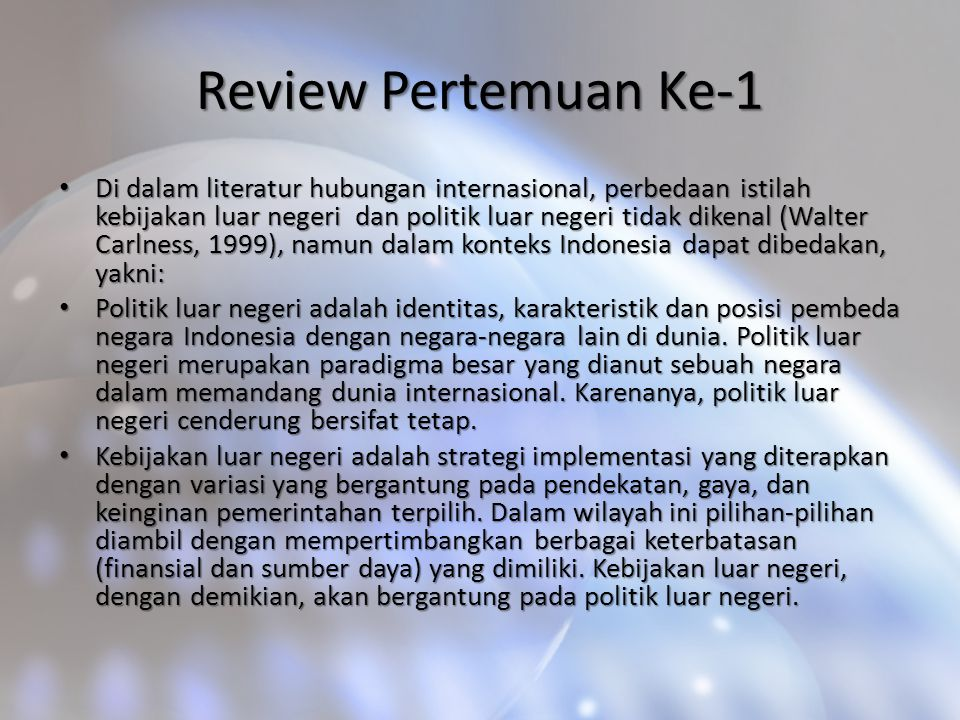 Review Pertemuan Ke-1