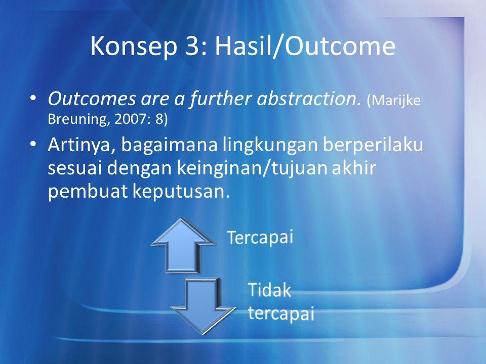 Konsep 3: Hasil/Outcome