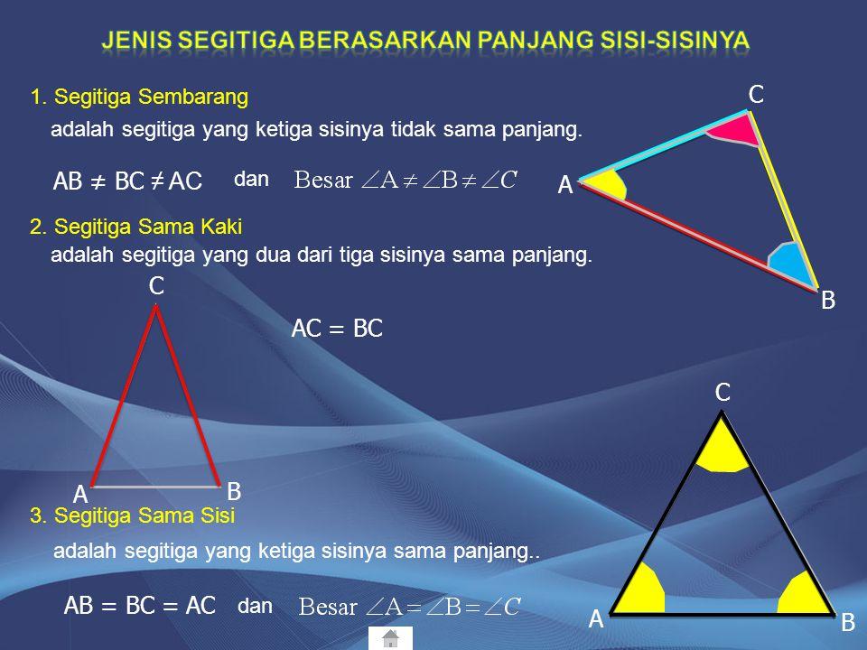 Jenis segitiga berasarkan panjang sisi-sisinya