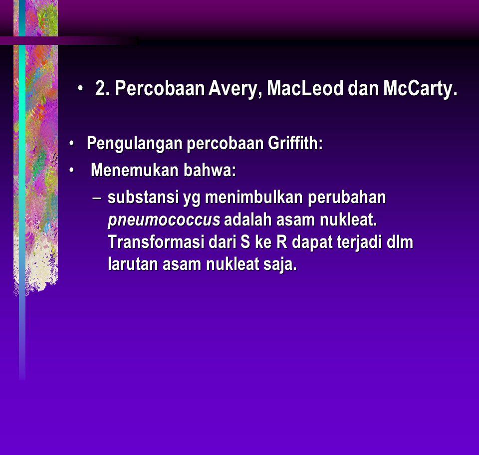 2. Percobaan Avery, MacLeod dan McCarty.