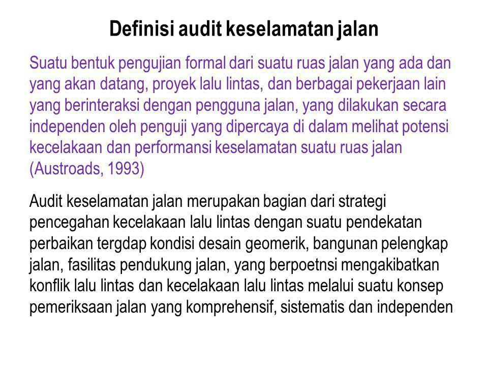 Definisi audit keselamatan jalan