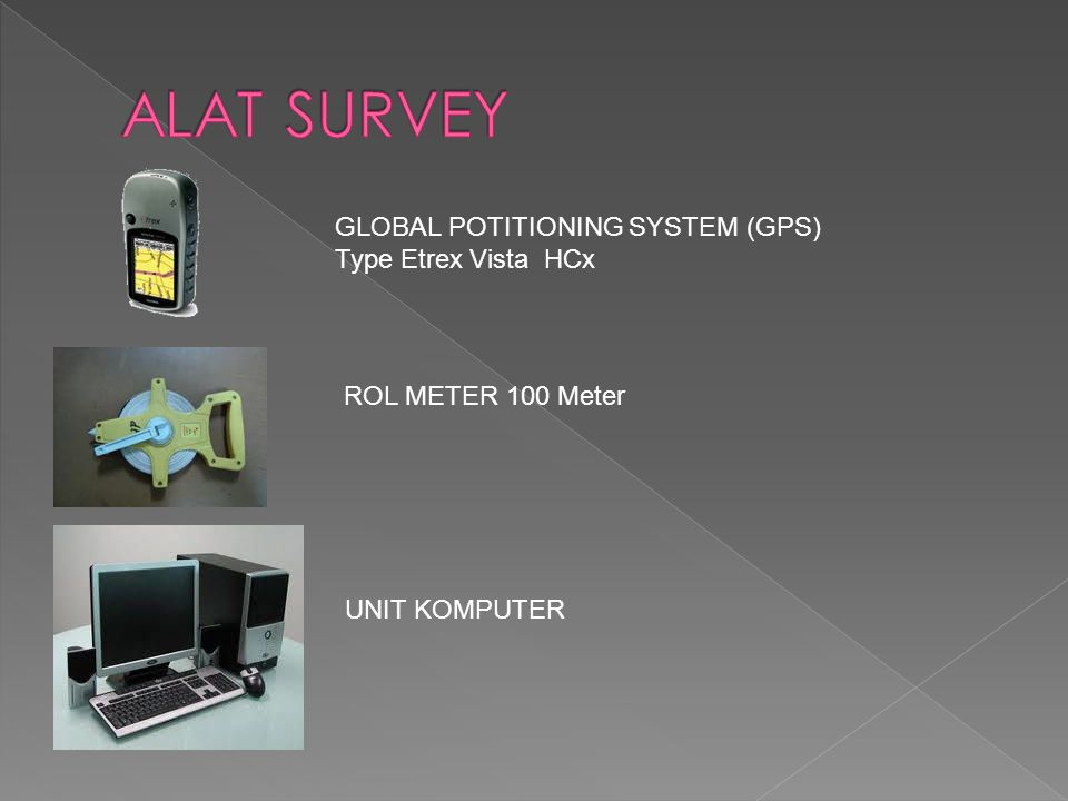 ALAT SURVEY GLOBAL POTITIONING SYSTEM (GPS) Type Etrex Vista HCx