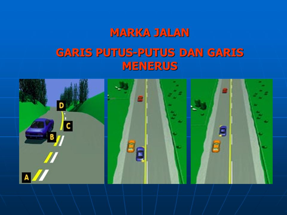 GARIS PUTUS-PUTUS DAN GARIS MENERUS