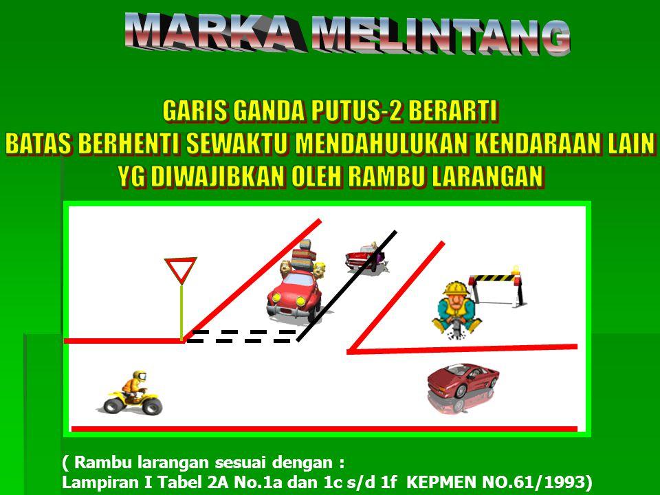 MARKA MELINTANG GARIS GANDA PUTUS-2 BERARTI