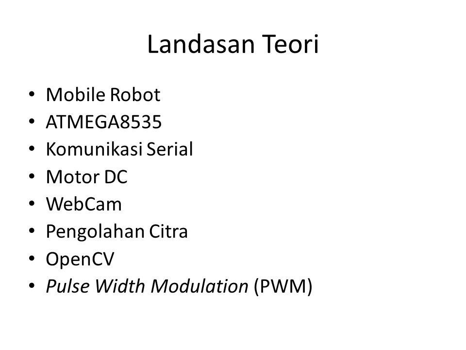 Landasan Teori Mobile Robot ATMEGA8535 Komunikasi Serial Motor DC