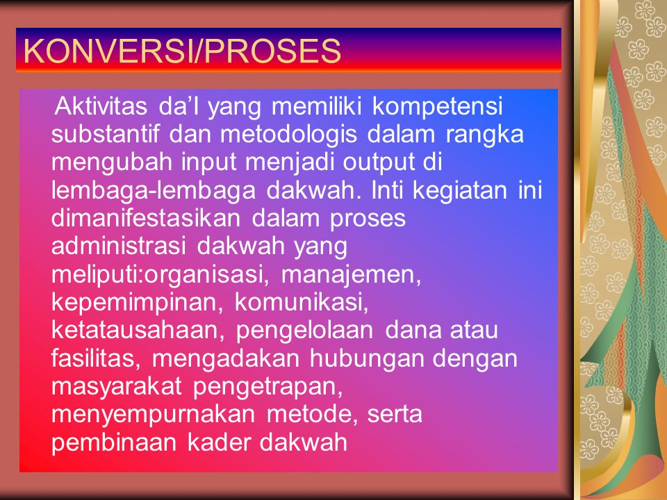 KONVERSI/PROSES