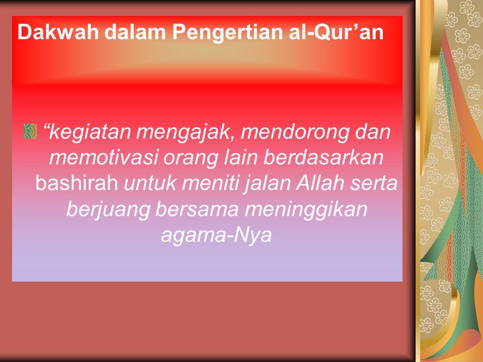 Dakwah dalam Pengertian al-Qur'an