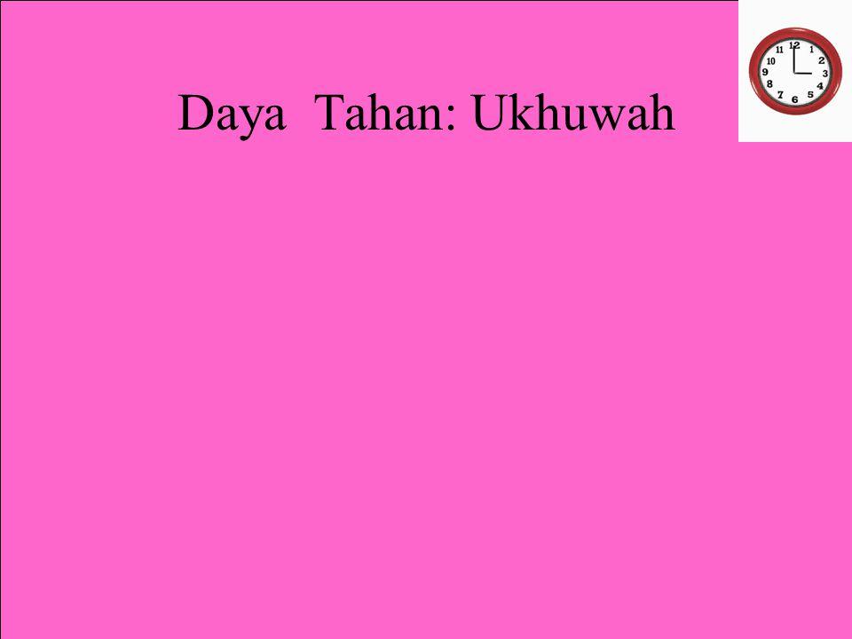Daya Tahan: Ukhuwah