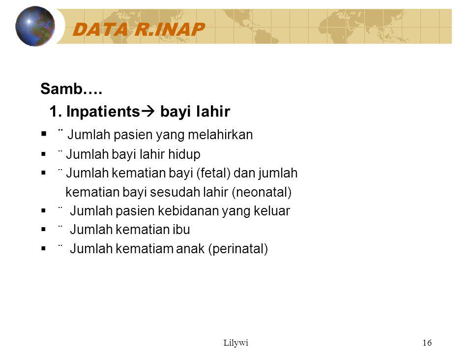 DATA R.INAP Samb…. 1. Inpatients bayi lahir