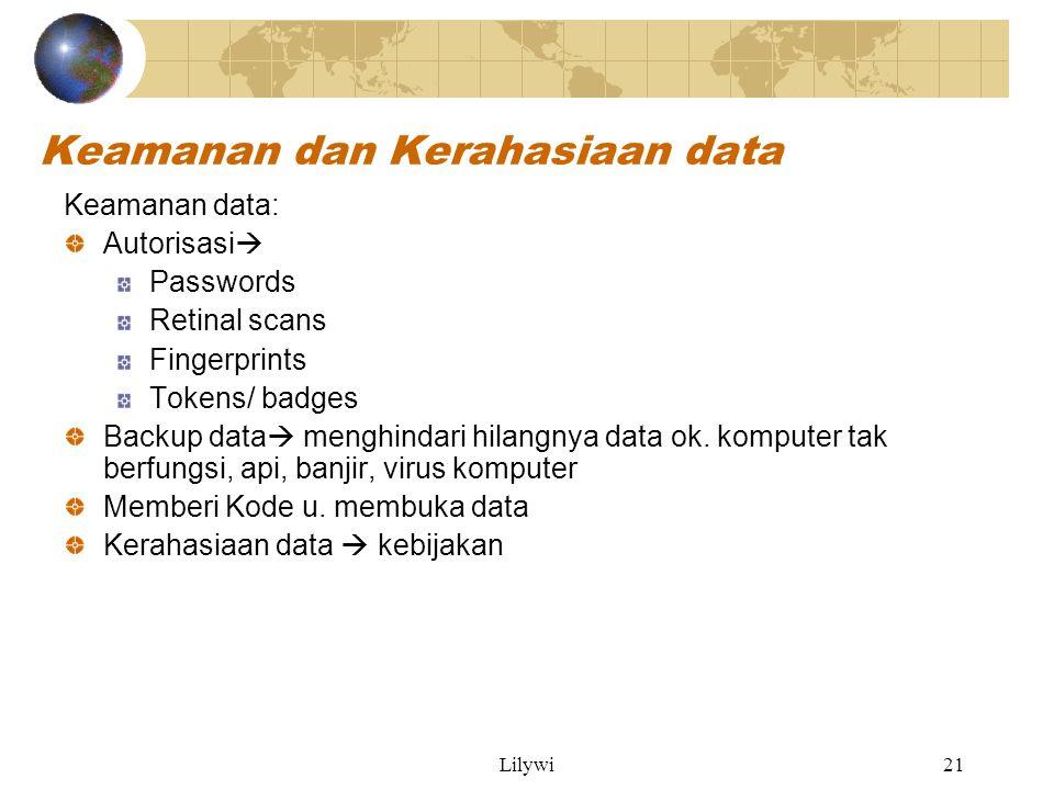 Keamanan dan Kerahasiaan data