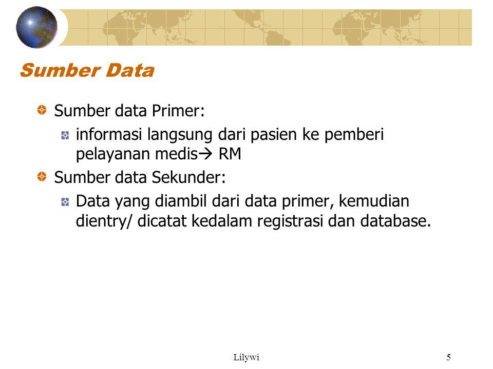 Sumber Data Sumber data Primer:
