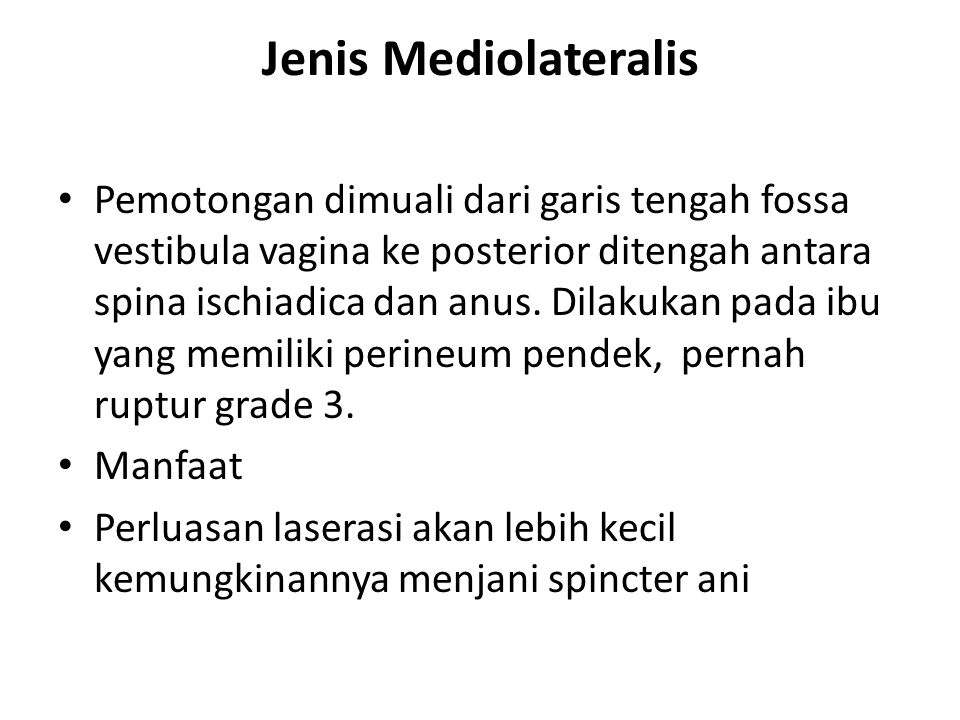 Jenis Mediolateralis