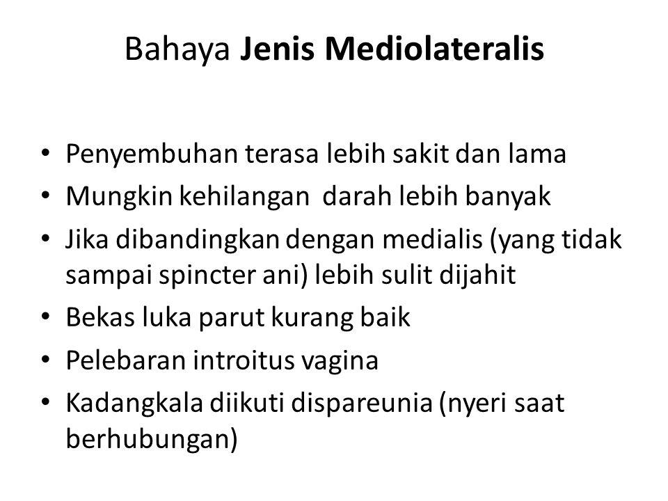Bahaya Jenis Mediolateralis