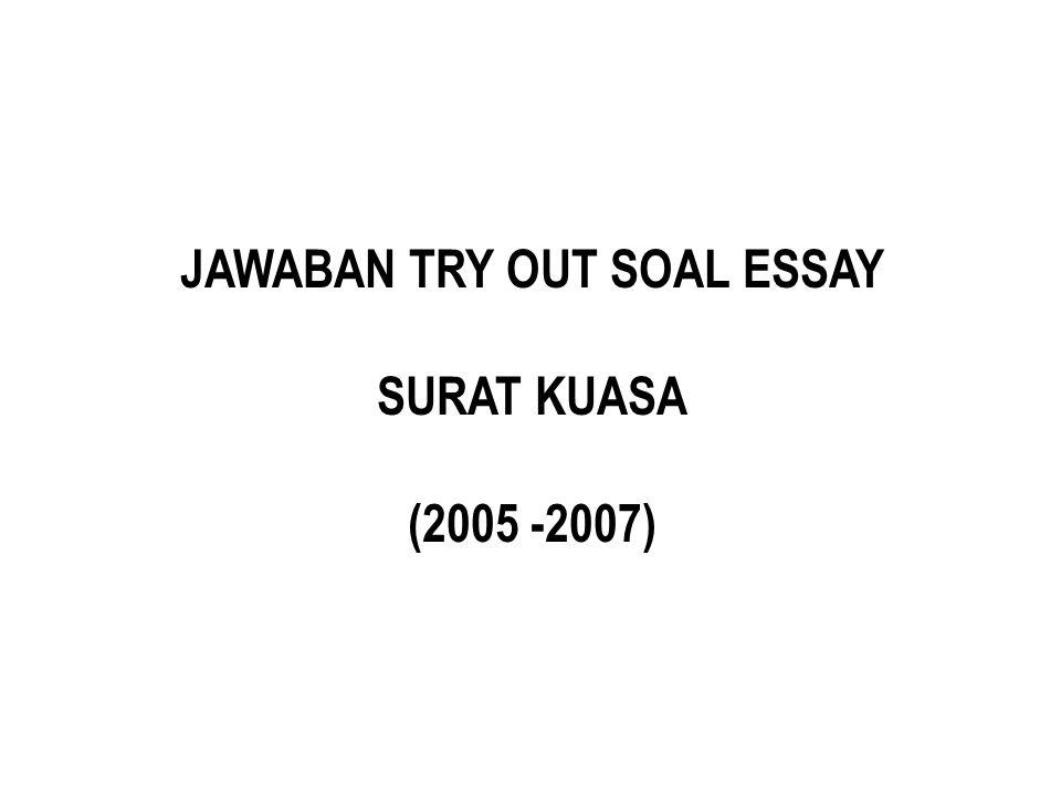 JAWABAN TRY OUT SOAL ESSAY