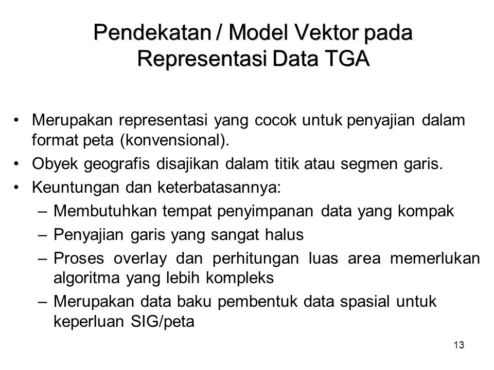 Pendekatan / Model Vektor pada Representasi Data TGA