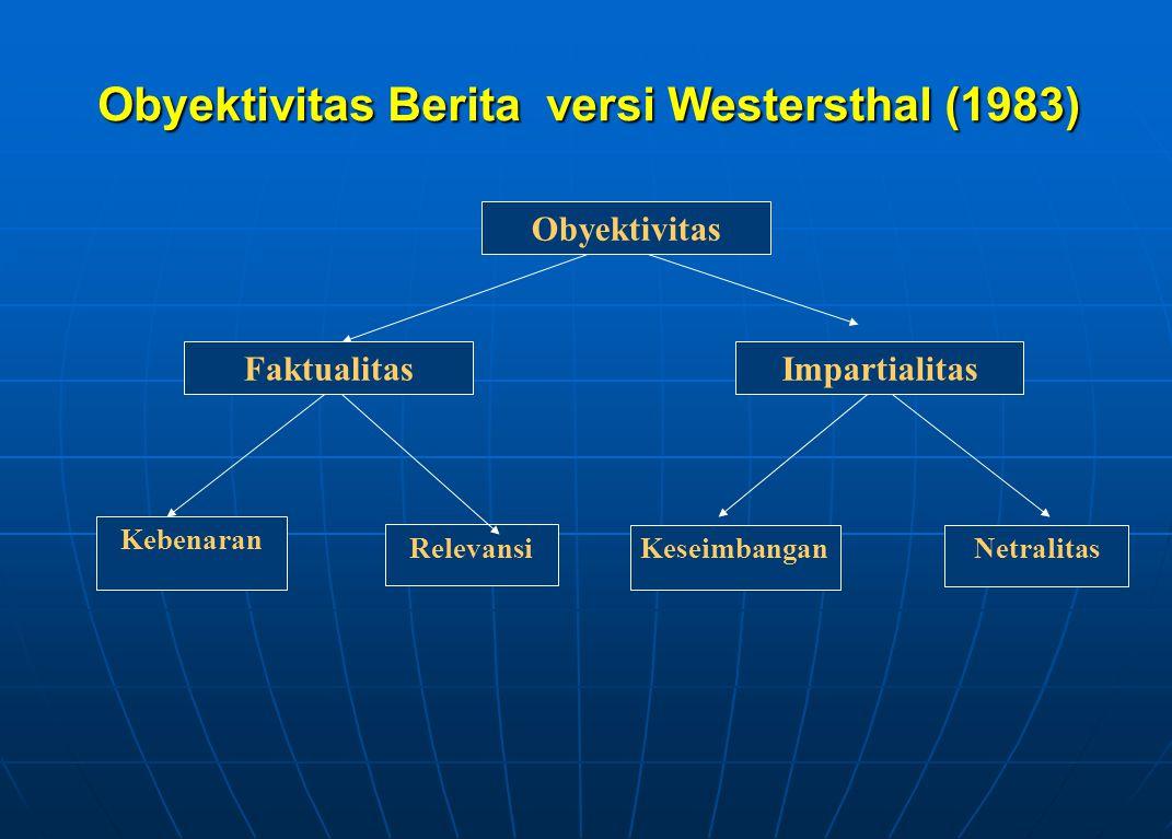 Obyektivitas Berita versi Westersthal (1983)