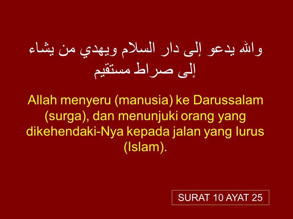 والله يدعو إلى دار السلام ويهدي من يشاء إلى صراط مستقيم