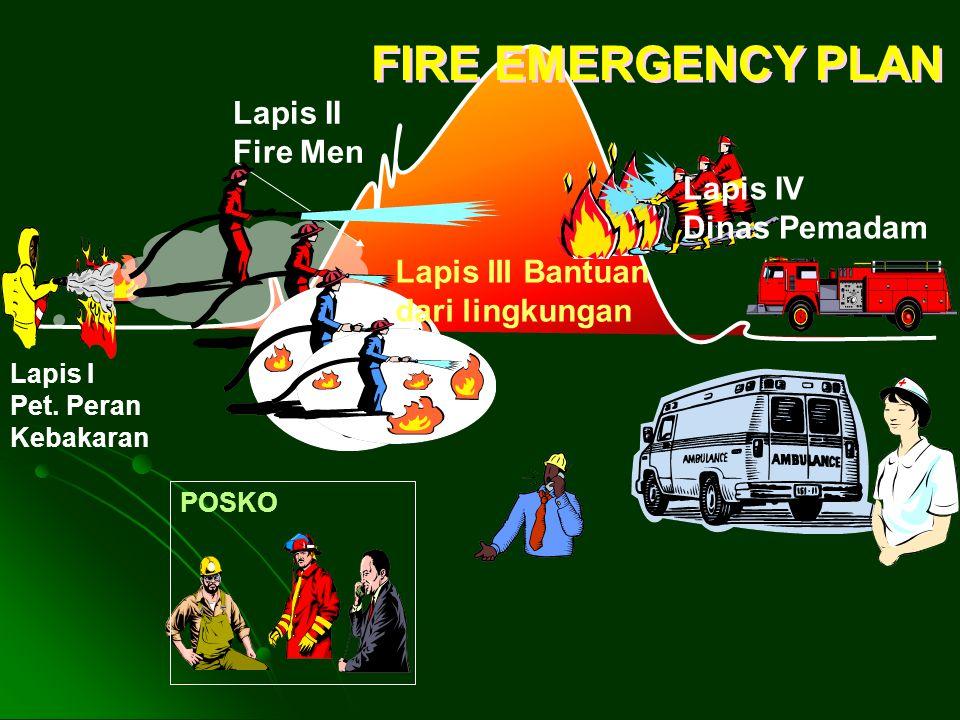 FIRE EMERGENCY PLAN Lapis II Fire Men Lapis IV Dinas Pemadam
