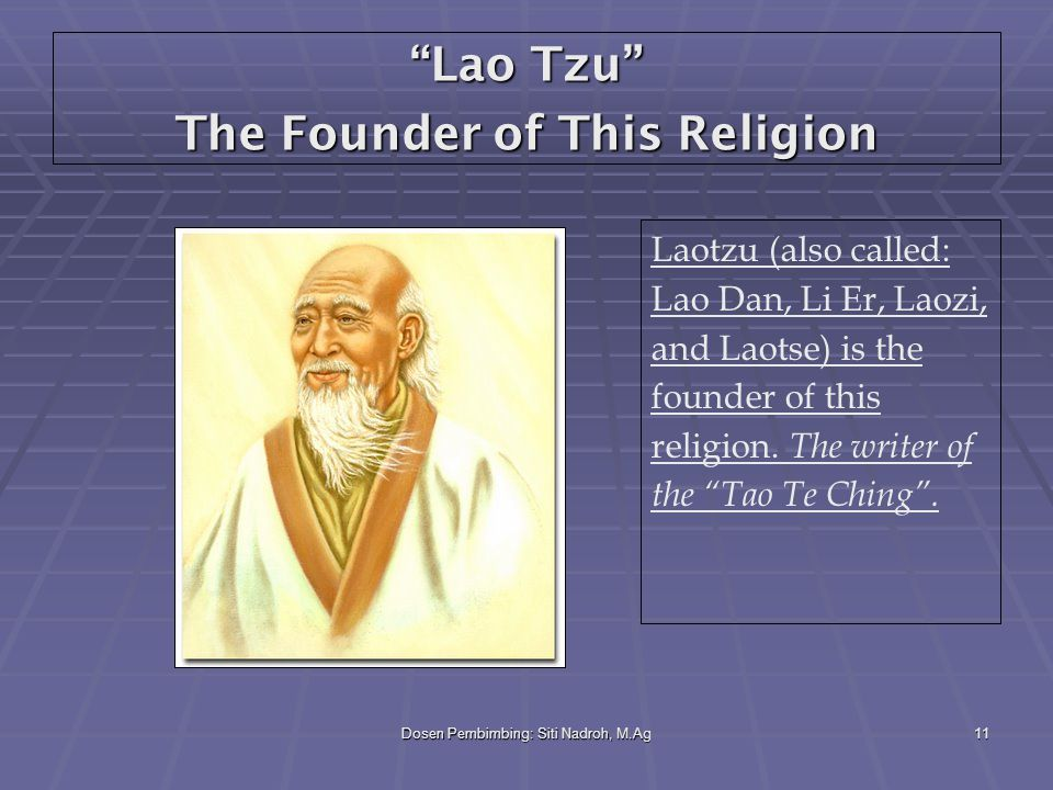Lao Tzu The Founder of This Religion