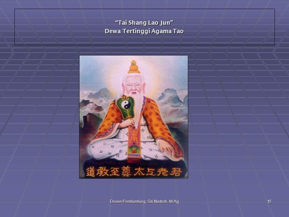 Tai Shang Lao Jun Dewa Tertinggi Agama Tao
