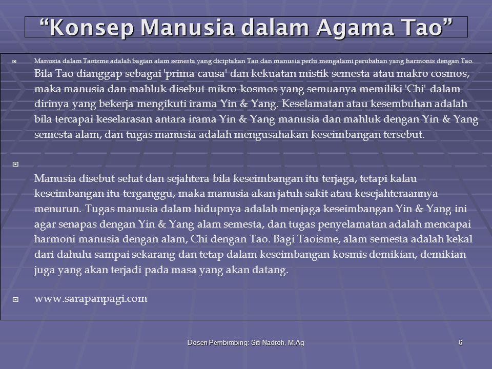Konsep Manusia dalam Agama Tao