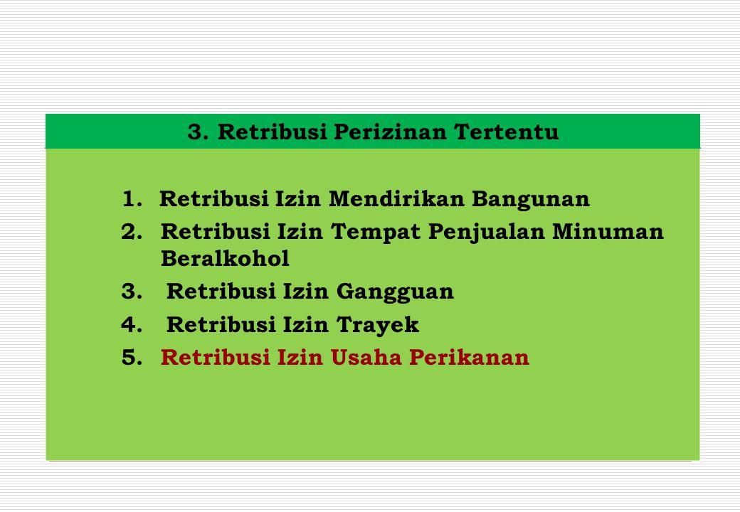3. Retribusi Perizinan Tertentu