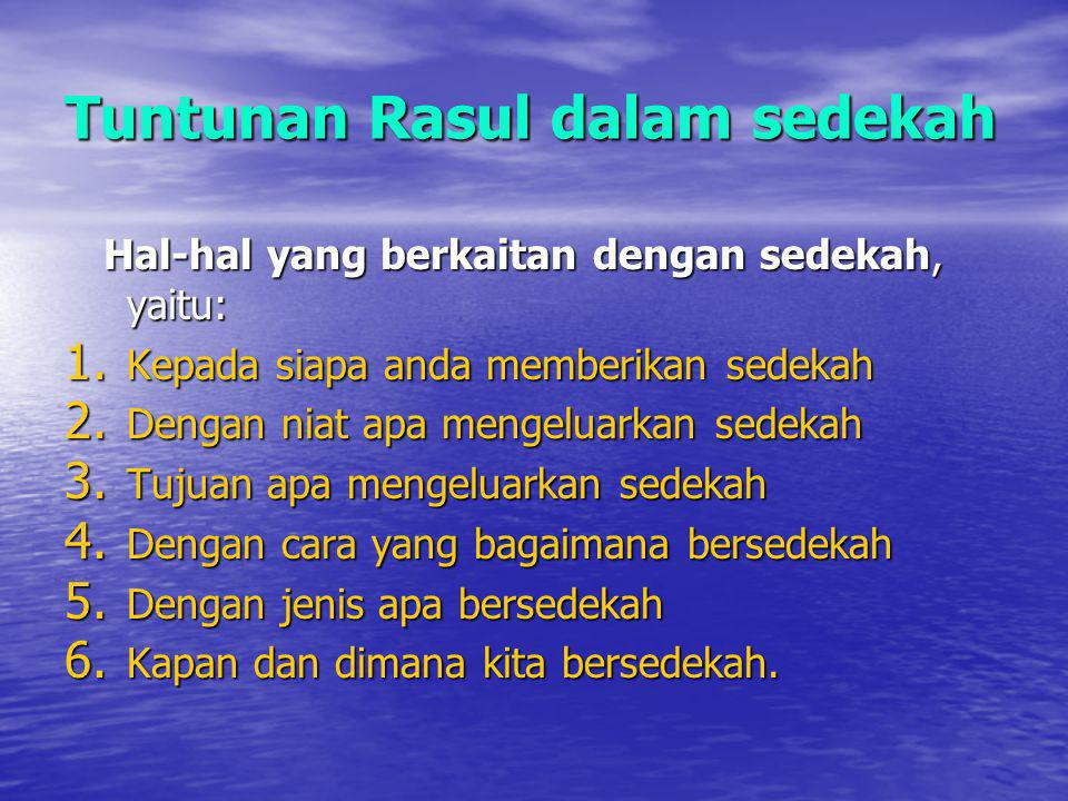 Tuntunan Rasul dalam sedekah