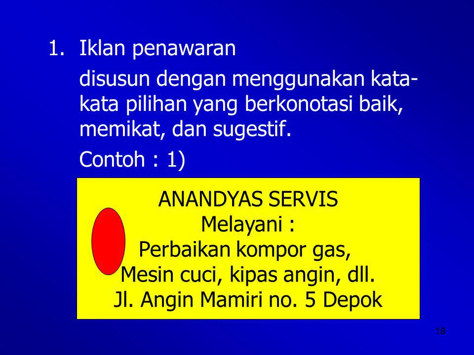 Mesin cuci, kipas angin, dll. Jl. Angin Mamiri no. 5 Depok