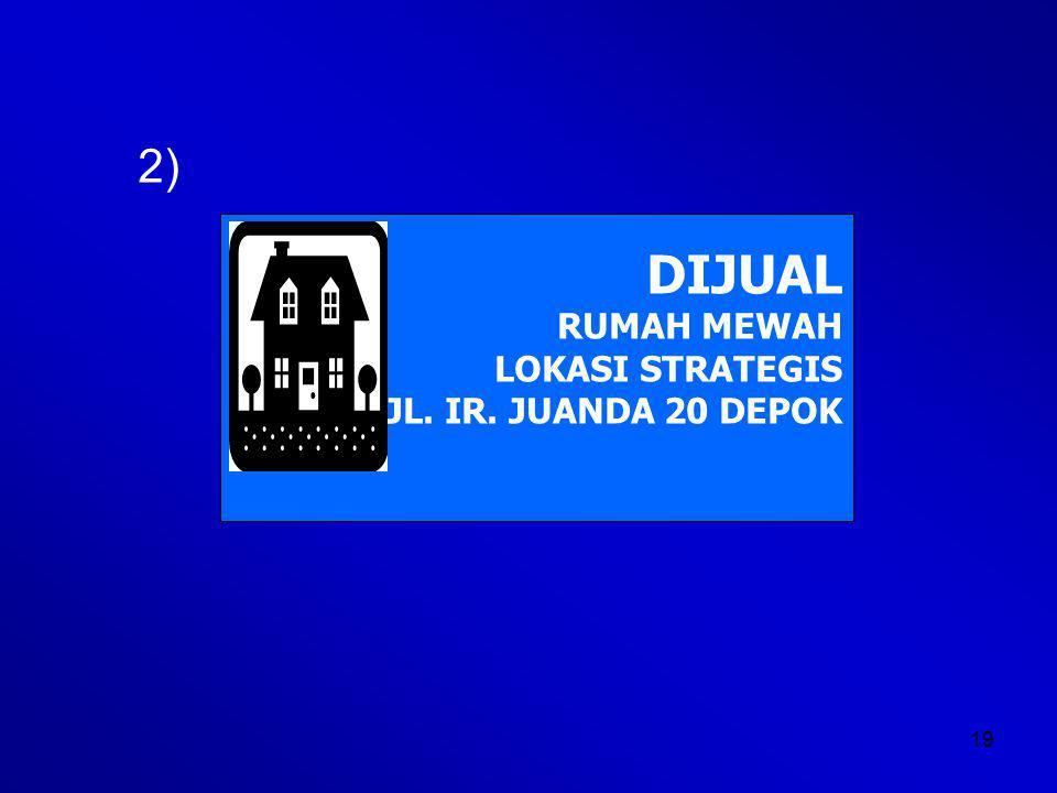 2) DIJUAL RUMAH MEWAH LOKASI STRATEGIS JL. IR. JUANDA 20 DEPOK