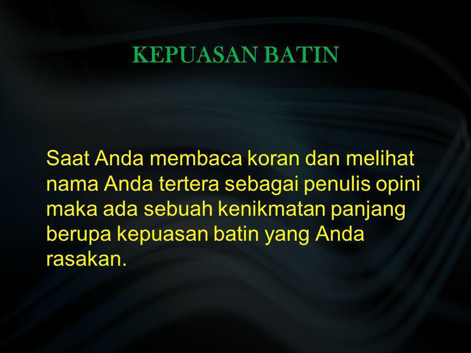 KEPUASAN BATIN