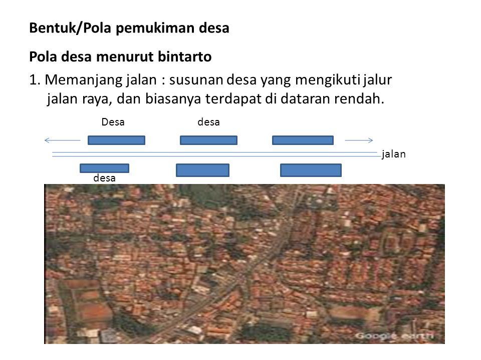Bentuk/Pola pemukiman desa