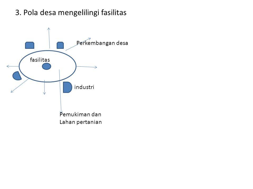 3. Pola desa mengelilingi fasilitas