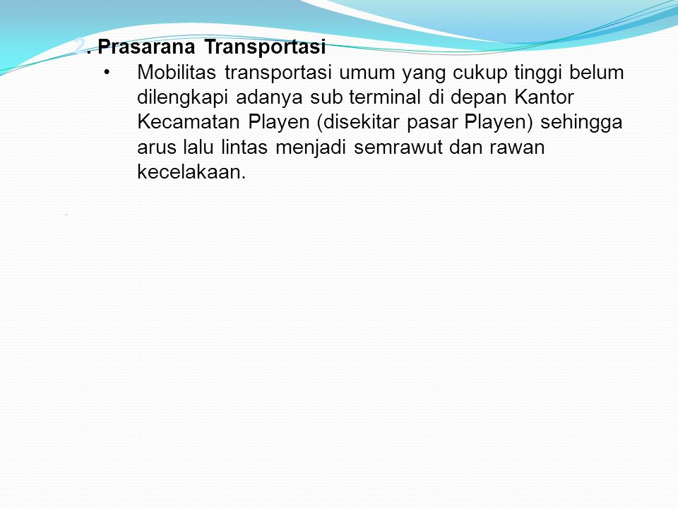 2. Prasarana Transportasi