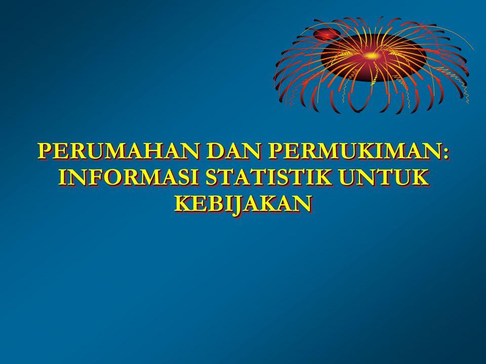 PERUMAHAN DAN PERMUKIMAN: INFORMASI STATISTIK UNTUK KEBIJAKAN