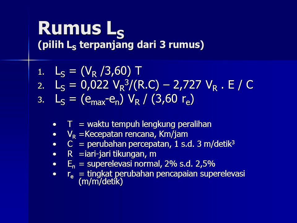 Rumus LS (pilih LS terpanjang dari 3 rumus)