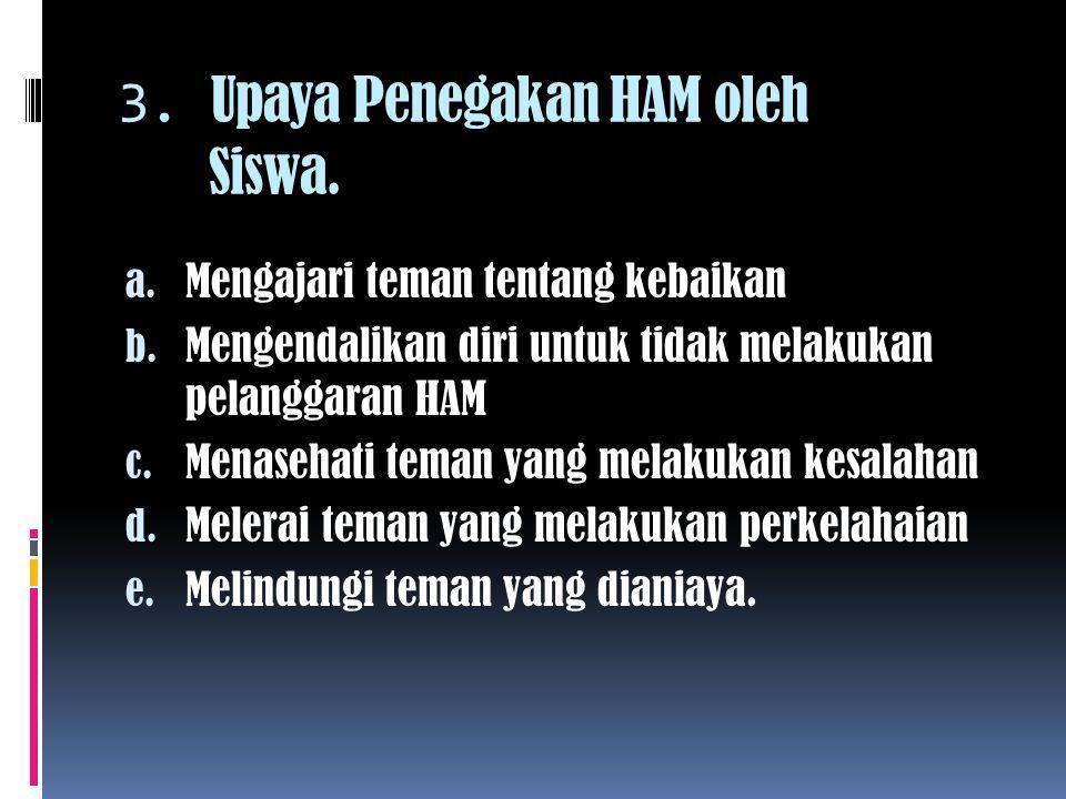 3. Upaya Penegakan HAM oleh Siswa.