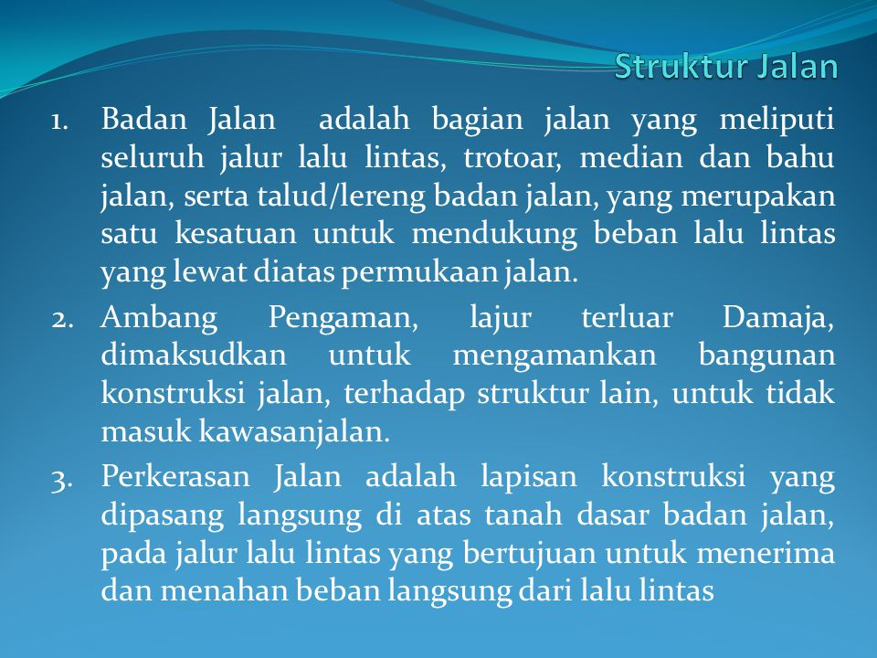 Struktur Jalan