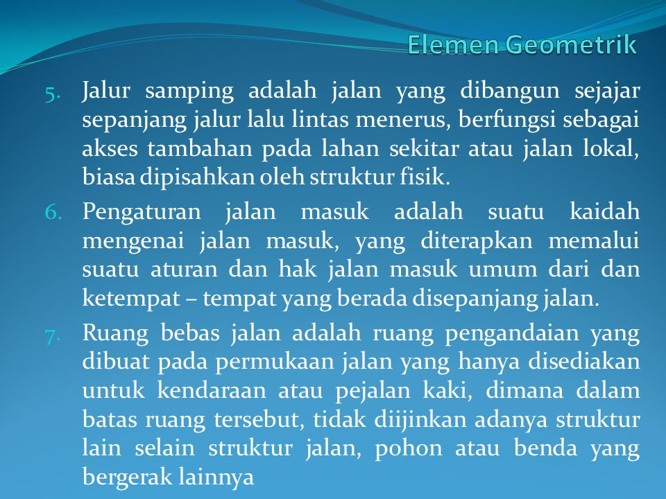 Elemen Geometrik