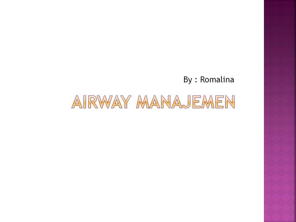 By : Romalina Airway manajemen