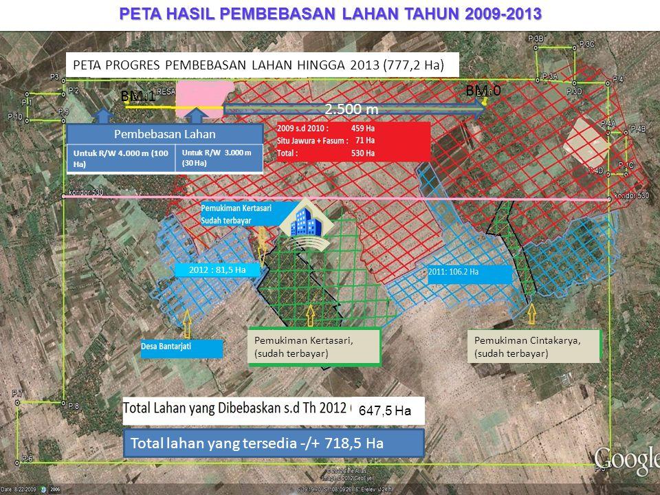 PETA HASIL PEMBEBASAN LAHAN TAHUN 2009-2013