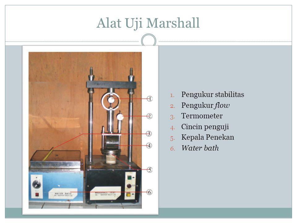 Alat Uji Marshall Pengukur stabilitas Pengukur flow Termometer