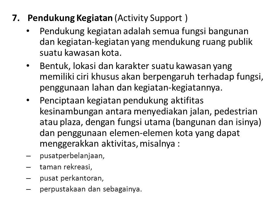 Pendukung Kegiatan (Activity Support )