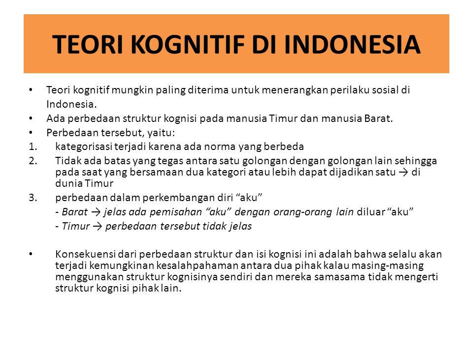 TEORI KOGNITIF DI INDONESIA