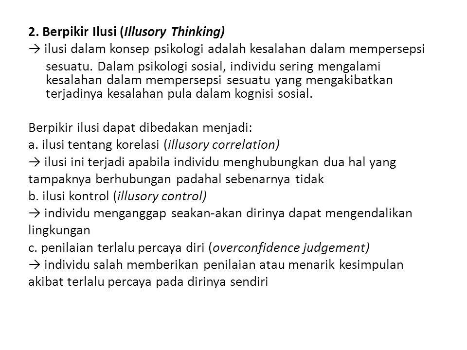2. Berpikir Ilusi (Illusory Thinking)