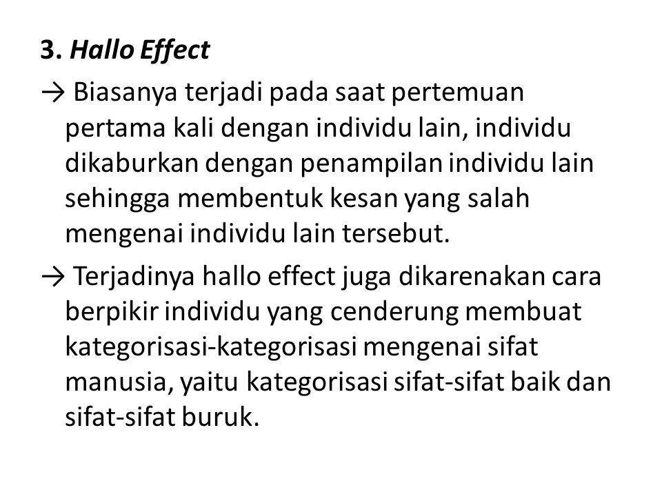 3. Hallo Effect
