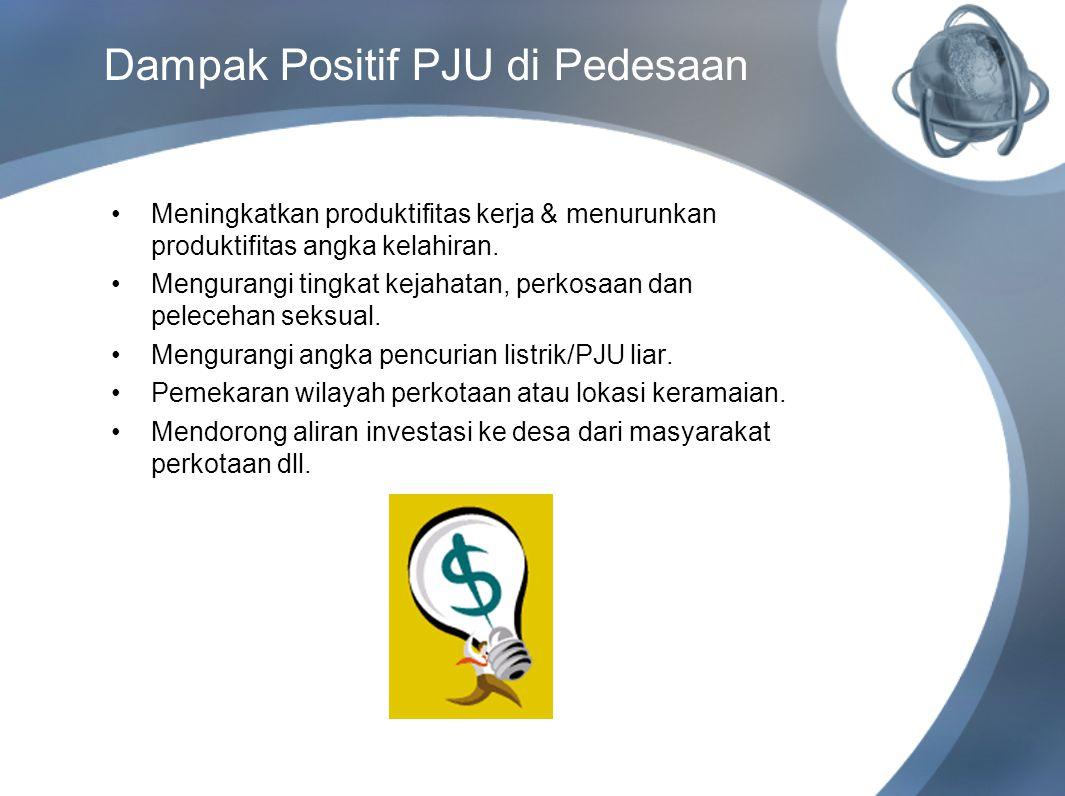 Dampak Positif PJU di Pedesaan