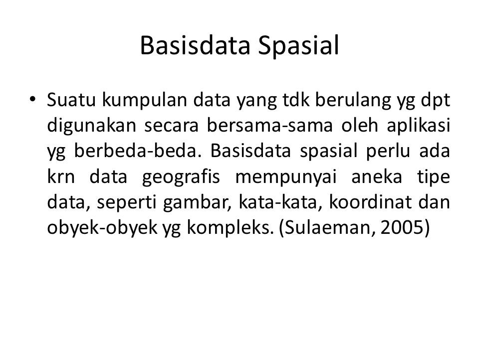 Basisdata Spasial