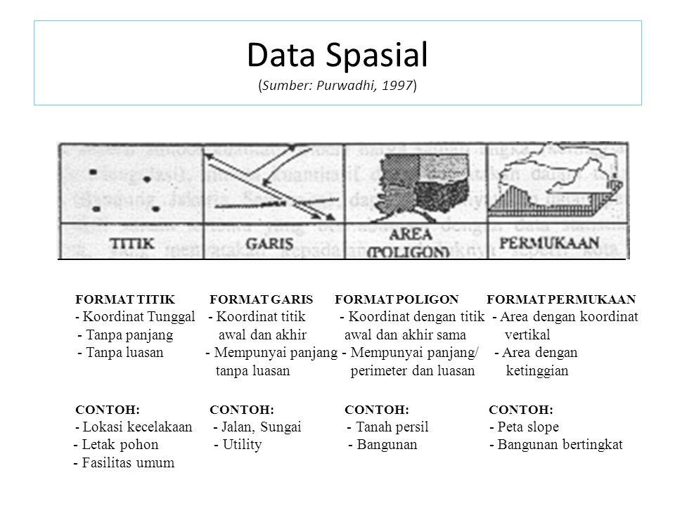 Data Spasial (Sumber: Purwadhi, 1997)