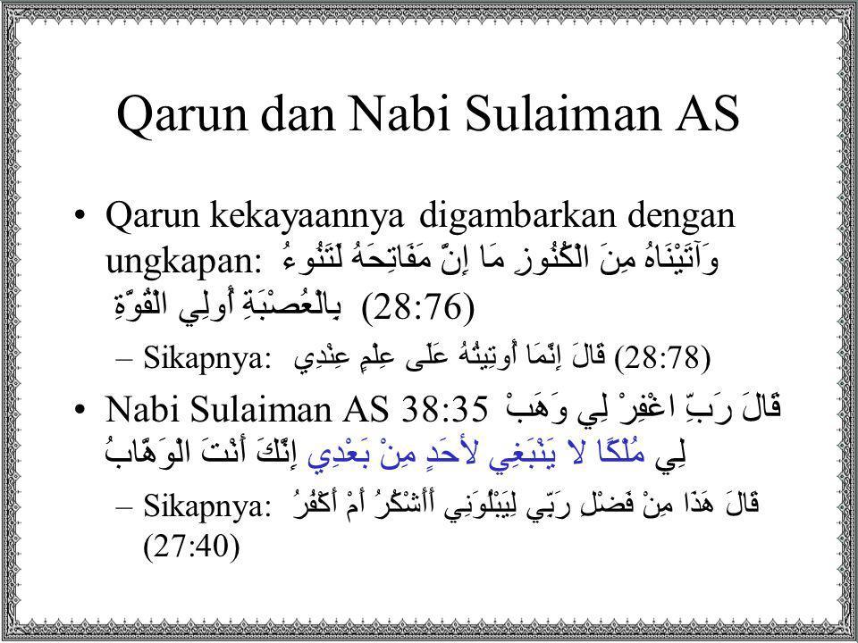 Qarun dan Nabi Sulaiman AS